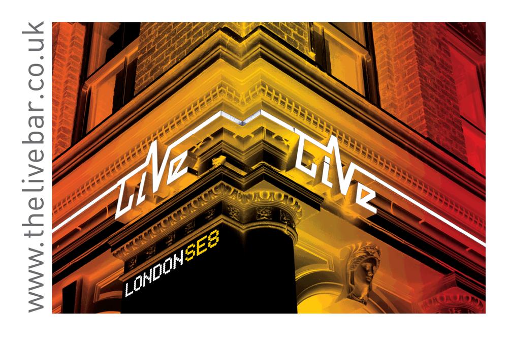 Live Bar flyer front 2