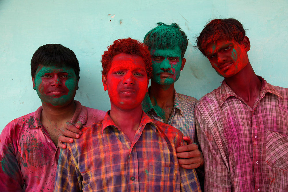 Boys with Holi Colours , Rupert Sagar-Musgrave