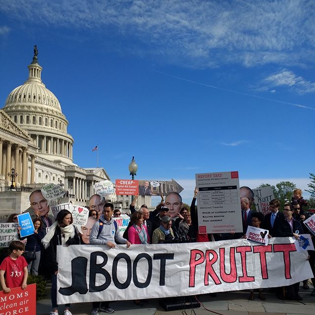 Grassroots power in action! The Brass Tactics team is proud to stand with the environmental justice movement to #BootPruitt! . . . . . #grassroots #organizing #climatechange #resist #climateaction #campaign