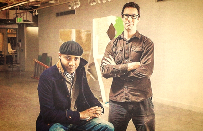 MBA/MA instructors Paul D. Miller (aka DJ Spooky) and Aaron Henkin. Photo: Justin Tsucalas