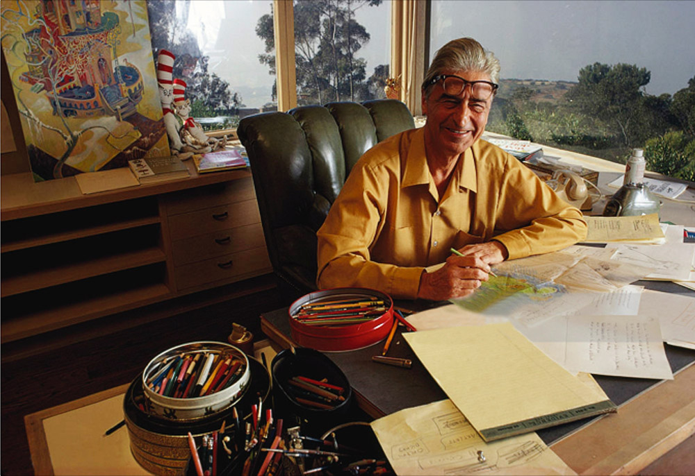 "Each limited edition print will be accompanied by an 8"" x 10"" glossy photograph of the above 1969 photograph of Theodor Seuss Geisel at his drawing table with the original That Winter Spring Came Late."