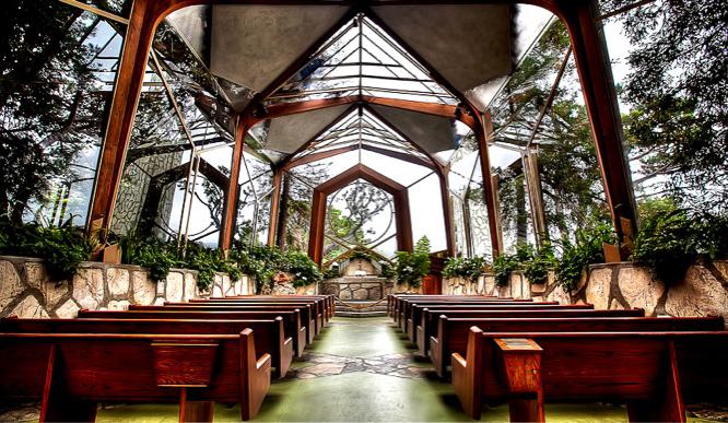 Wayfarers Chapel near Villa Narcissa