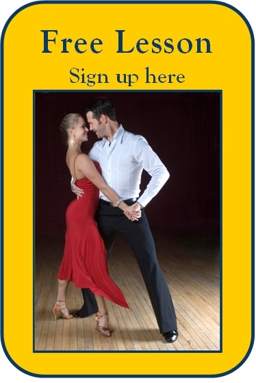 Enjoy a complimentary dance lesson to try out your dancing feet!      (We promise you don't have 2 lefts!)