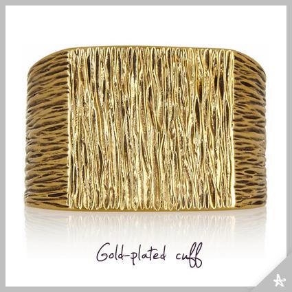 Saint Laurent gold-plated cuff