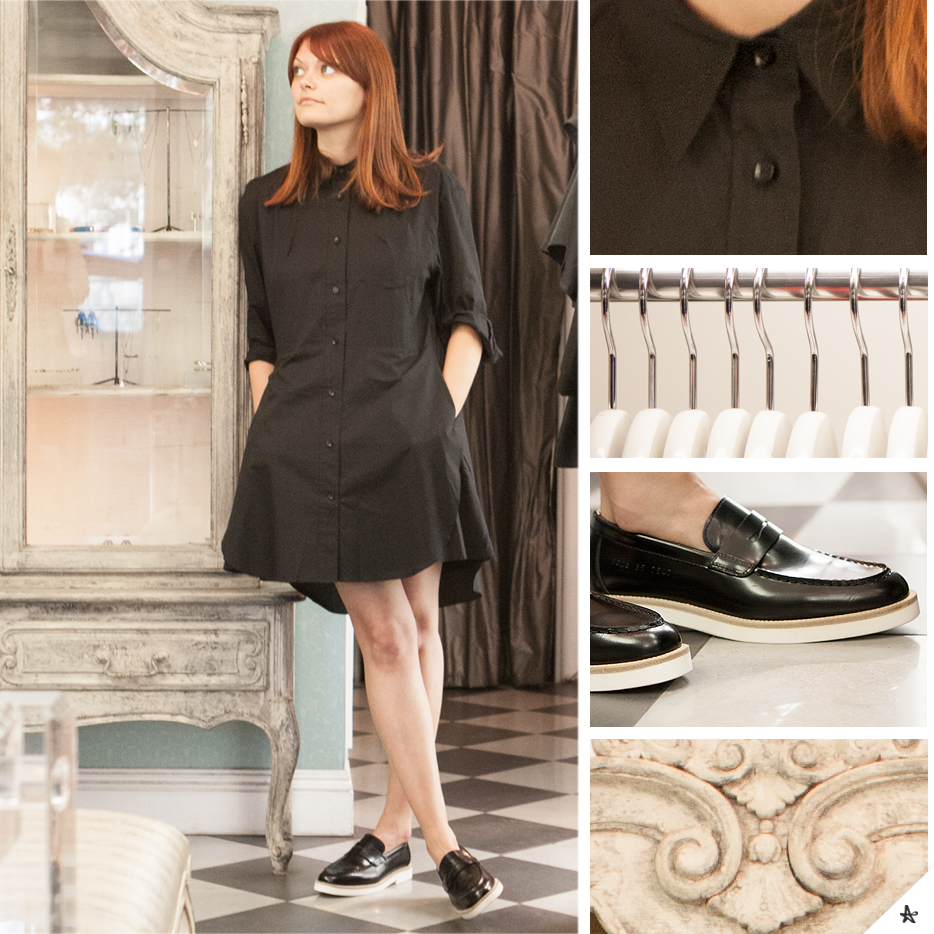 Dress: Acne. Shoes: Woman by Common Projects.