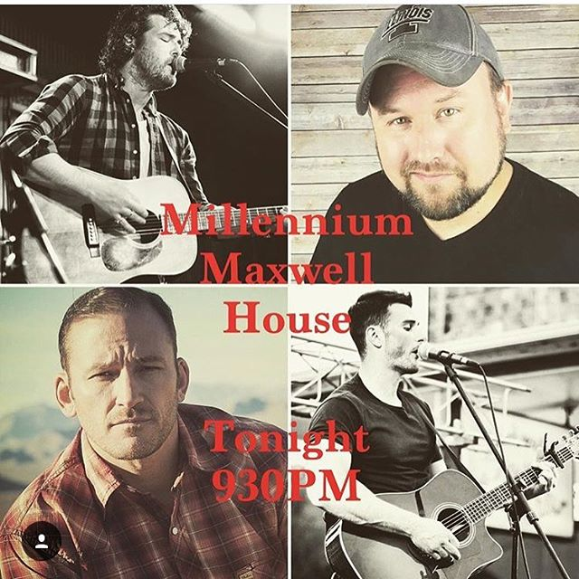 Playing Millennium Maxwell House tonight w my buddy @markaddisonchandler. 9:30pm. Come on out if you're around!