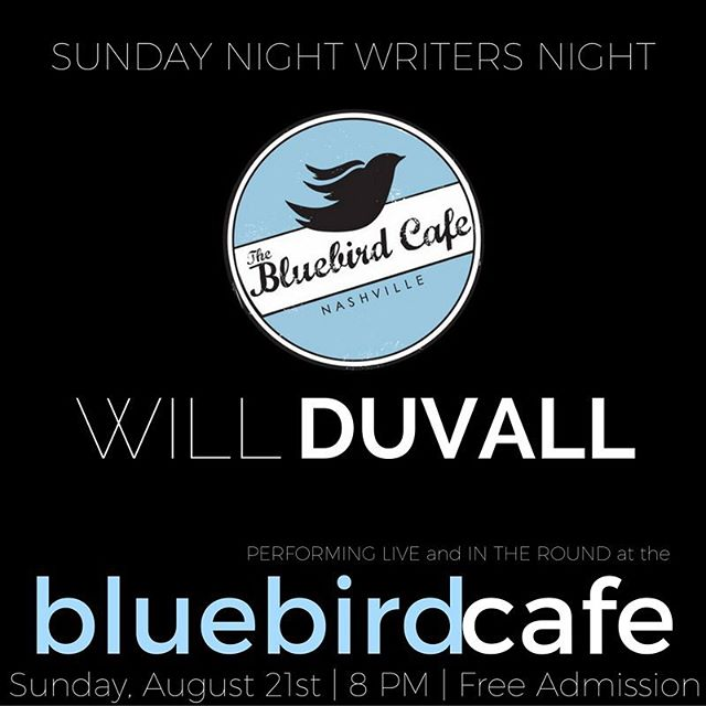 Hey my Instapeople! Playing tomorrow at the Bluebird Cafe Sunday Night Writers Night! Show starts at 8pm but seating is limited so I'd get there a bit early. And it's FREE. Can't beat that. Hope to see you tomorrow!