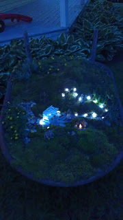 Fairy Garden at Night by Charming Dean House