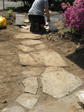 A lot of effort and soil movement is necessary to create a smooth path.  Photo by  Library Rachel