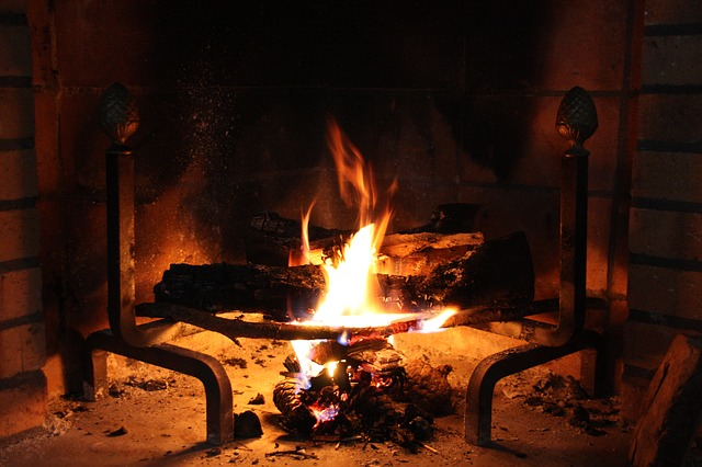 Mmm, cozy fire. Where is the hot cocoa?