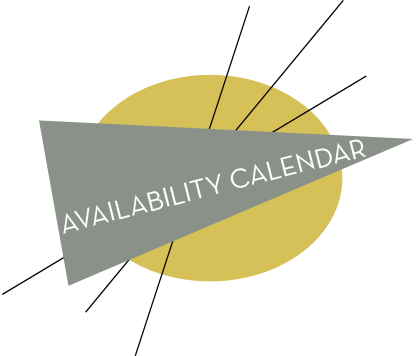 Hover over calendar dates at right for additional booking information.