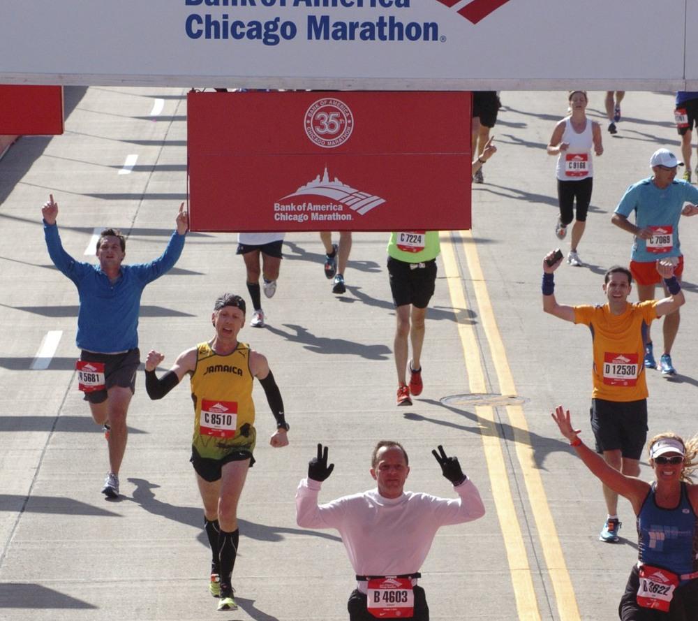 Chicago Marathon- Dr Huszti 3:28