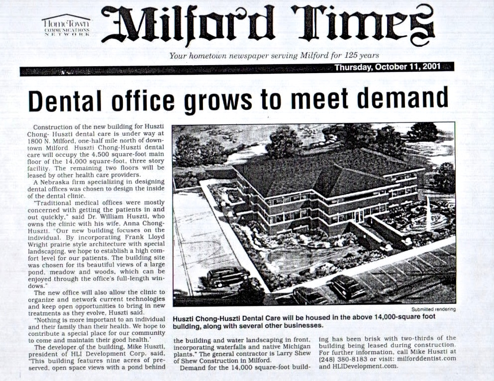 Milford times dental office grows.jpg