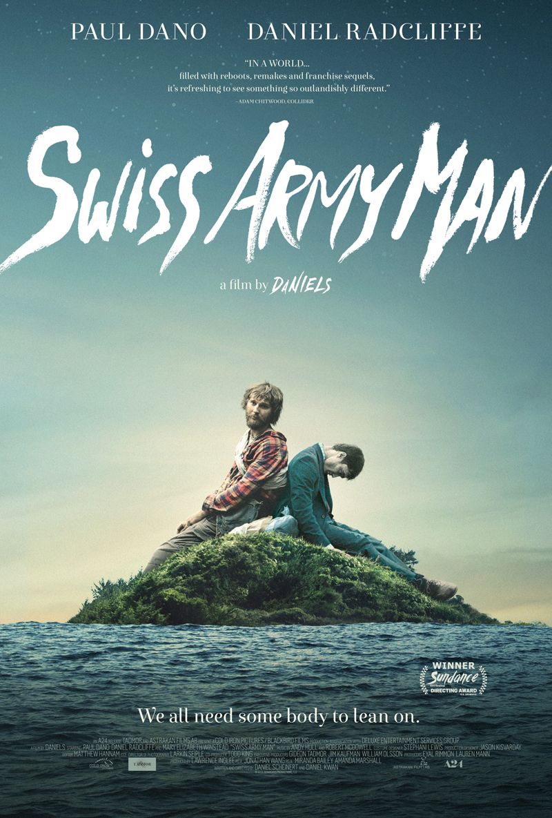 Swiss Army Man (R)                                                               1:00, 3:45, 7:00
