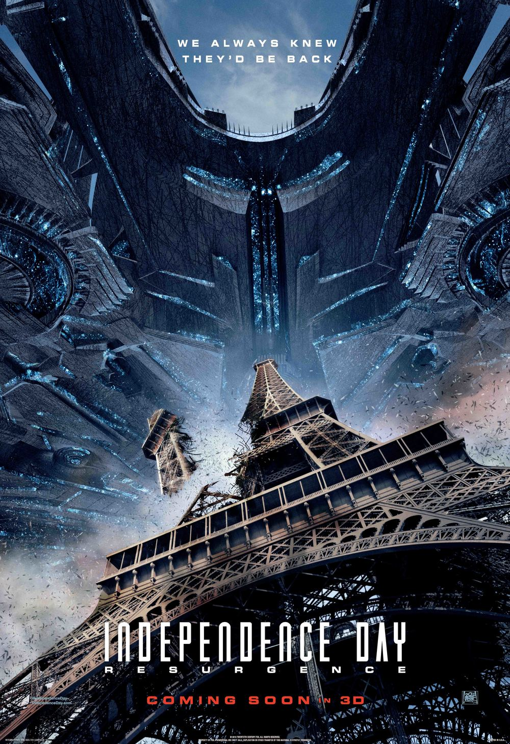 Independence Day: Resurgence (PG-13)                              1:00, 4:00, 7:00