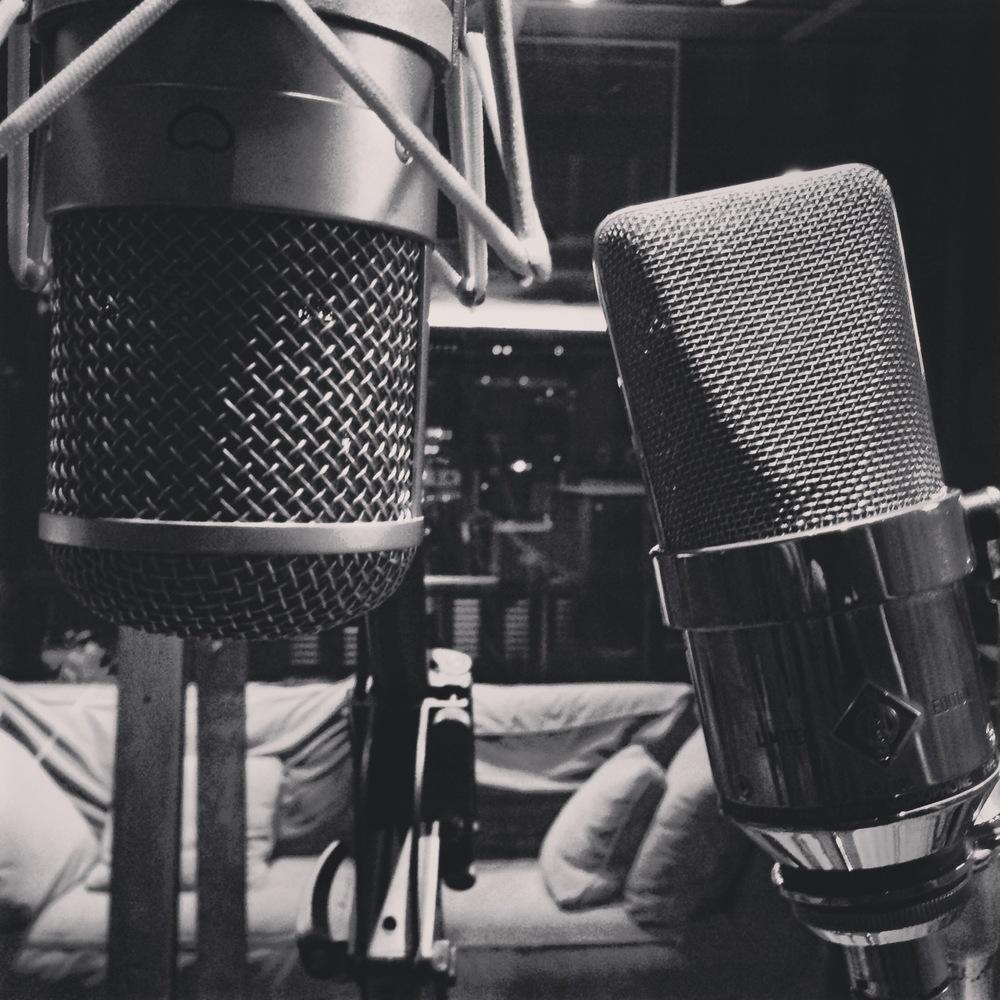 "Joel's Neumann FET47 and TLM170 ""gotham"" microphones."