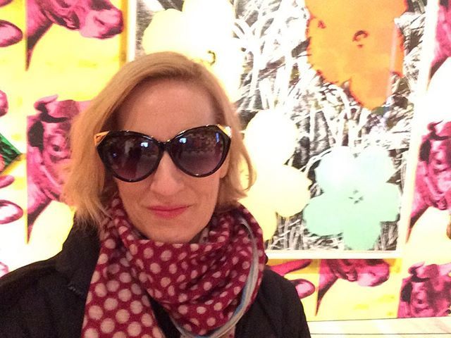Looking at #warhol in #sunglasses as an homage. #newyork #nosleep #whitneymuseum #flowers #mylastwarholshow #worthit