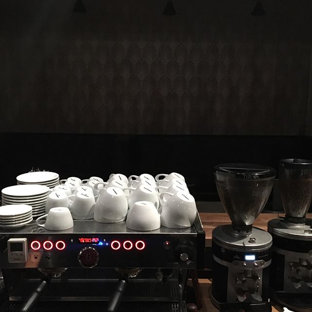 The PB is quickly becoming one of our favorite machines - makes great espresso, looks good, and still has that Lines feel to work on. @lamarzocco #lineaPB @archivecoffeeandbar