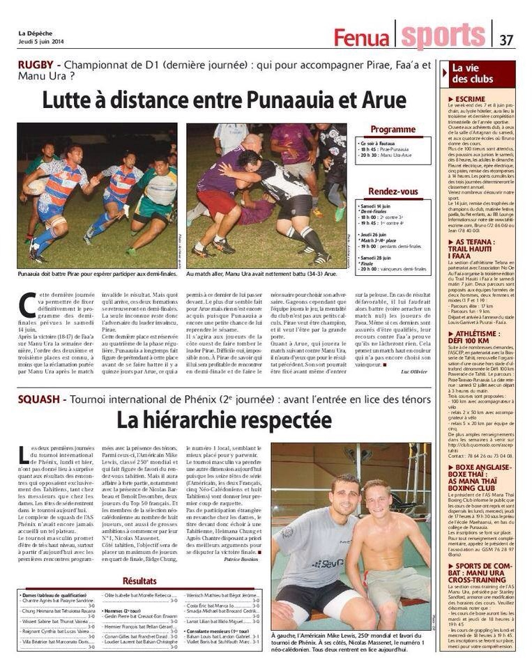 Just in case you missed the La Depeche sports section on Thursday