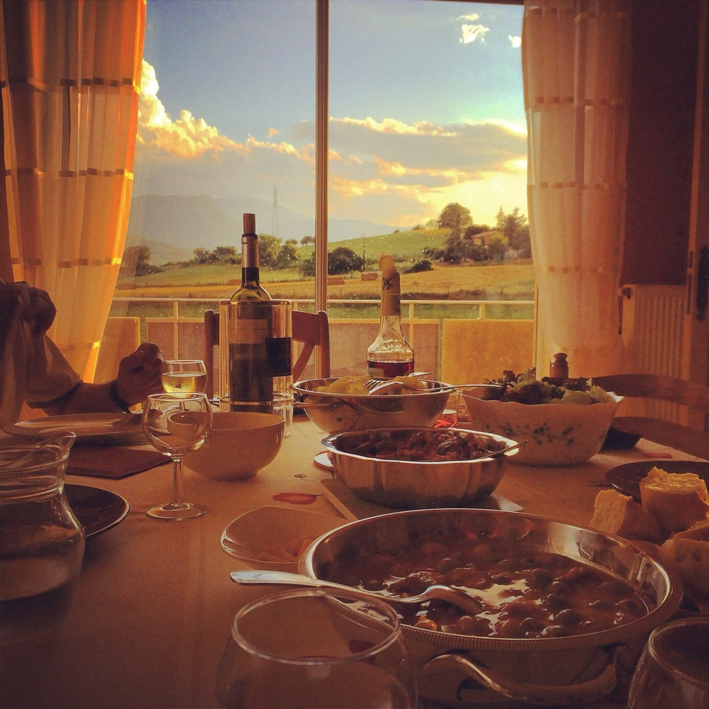 Farm to table, where the table is on the farm