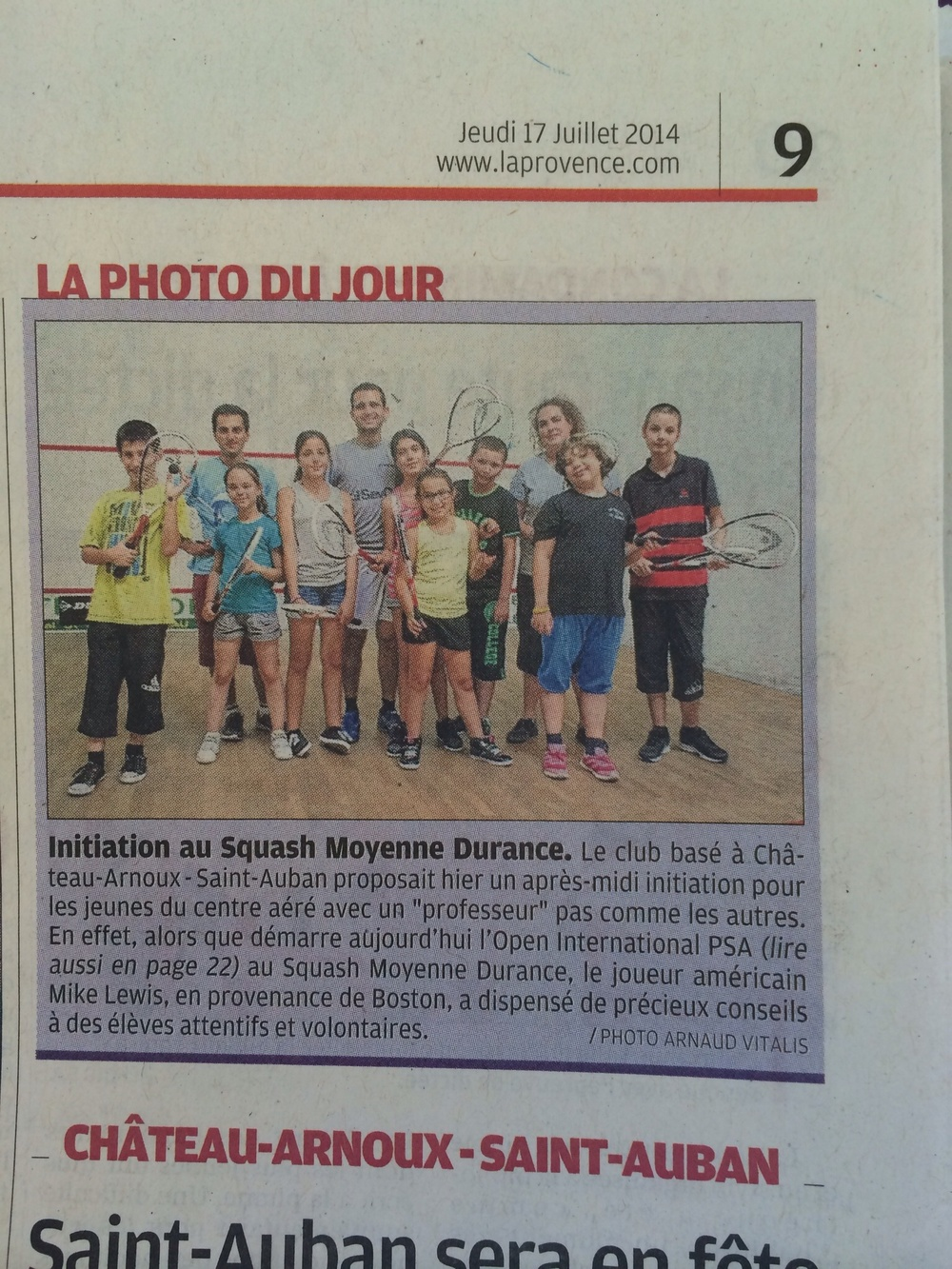 Junior squash clinic in the village before the tournament starts up