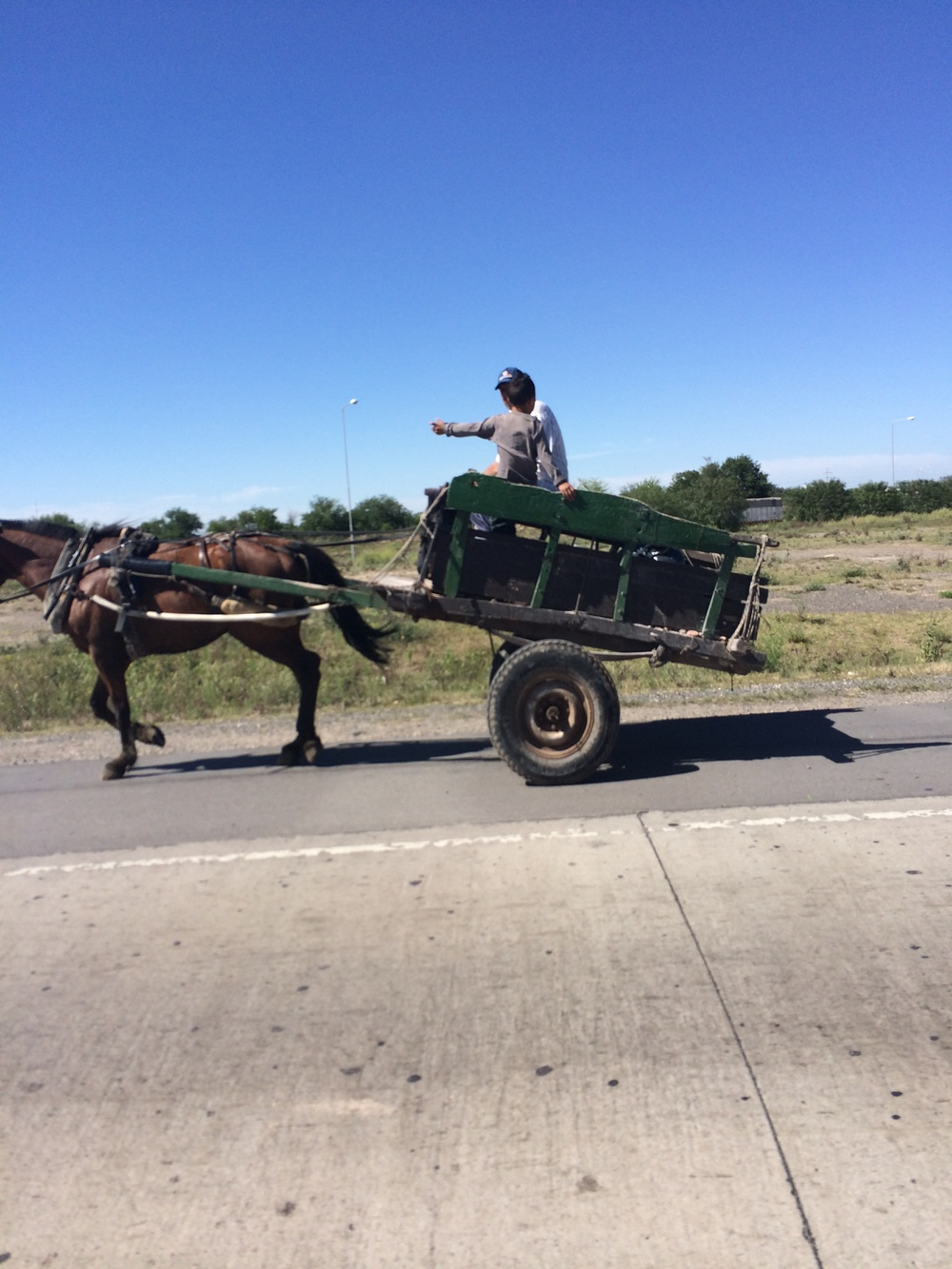 A vintage ride in rural farm country
