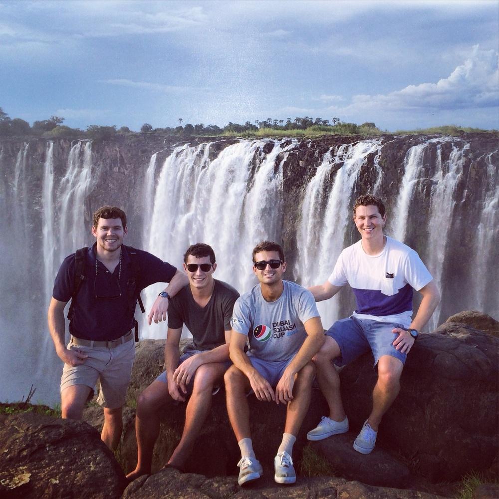 Photo shoot of Zim's next big boy band at Victoria Falls
