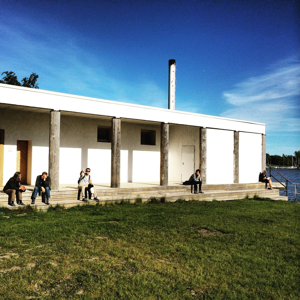 So this is what the outside of a Finnish sauna club looks like