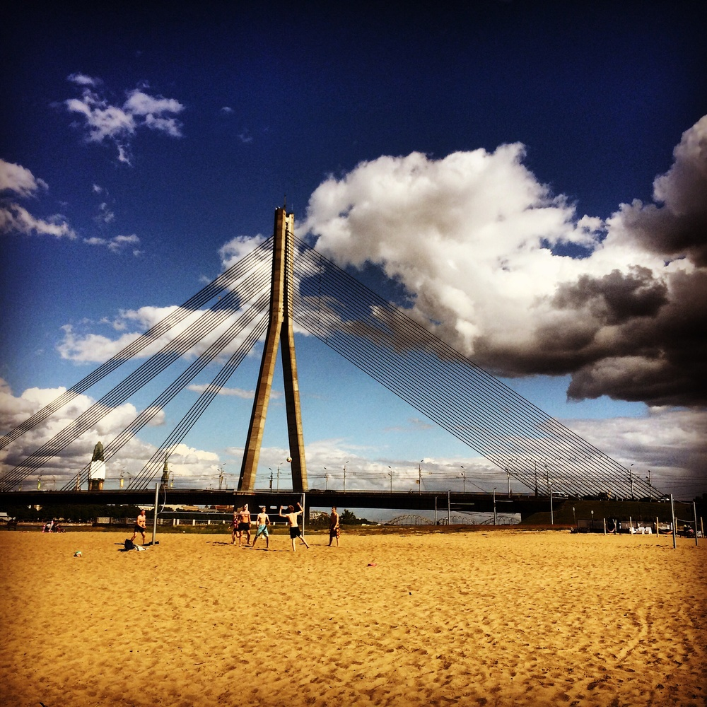 Beach volleyball taking over in the new age of the Riga waterfront