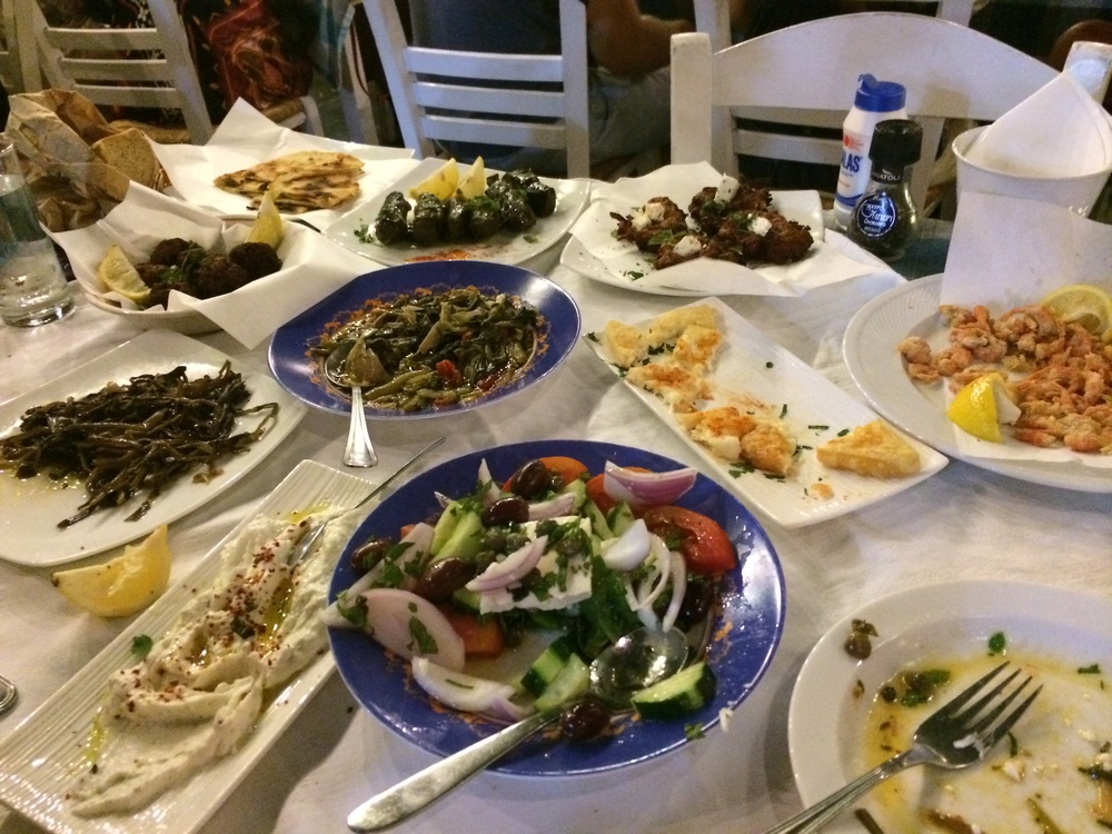 My Big Fat Greek Meal, every meal on the island