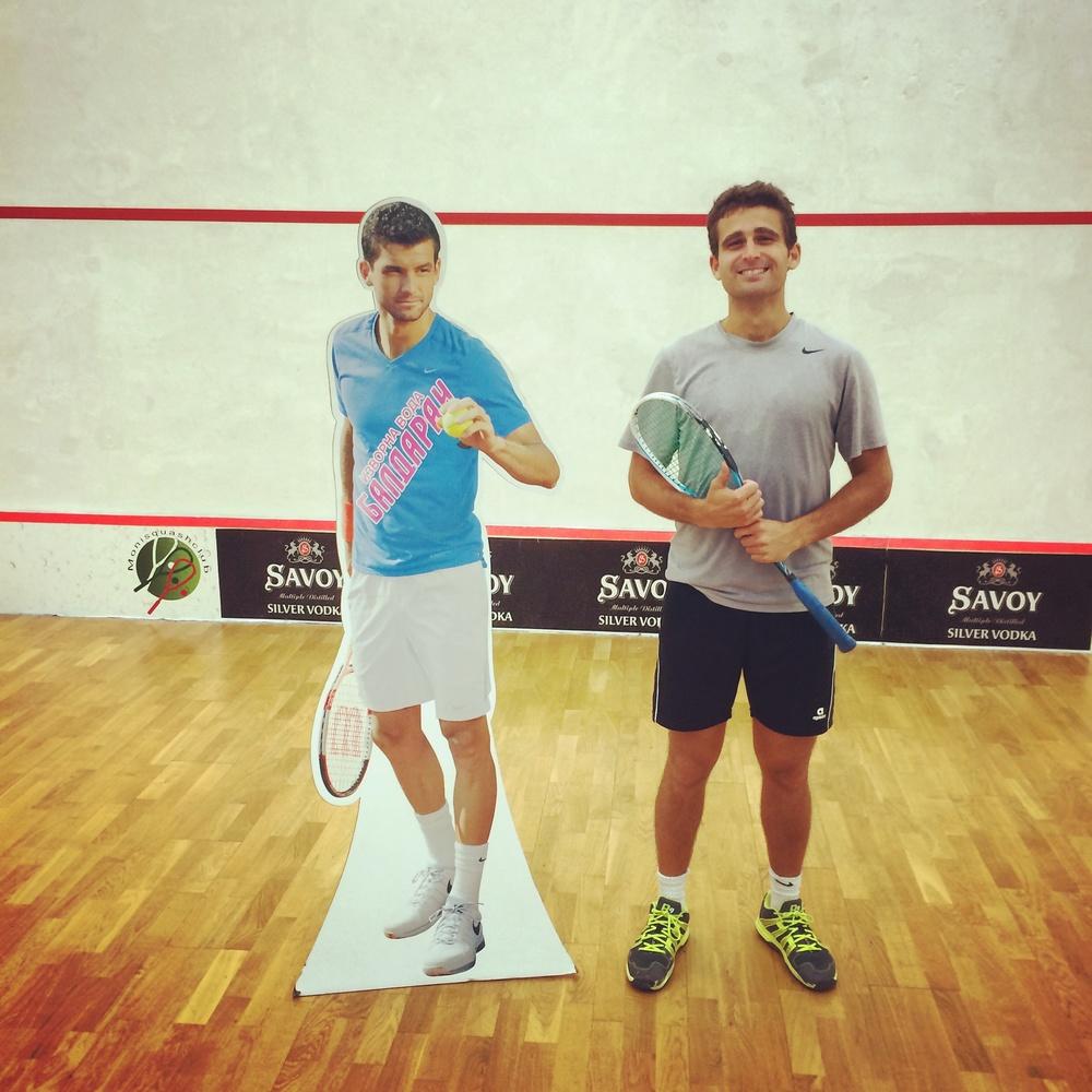 Hanging with cardboard Bulgarian tennis stars in Bulgarian basements