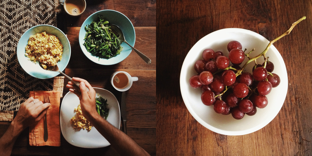 scrambled tofu brocoli rabe and grapes diptych.jpg