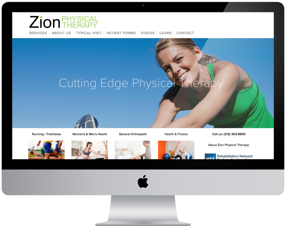 New website for  Zion Physical Therapy   ( migration from Wordpress to Squarespace )