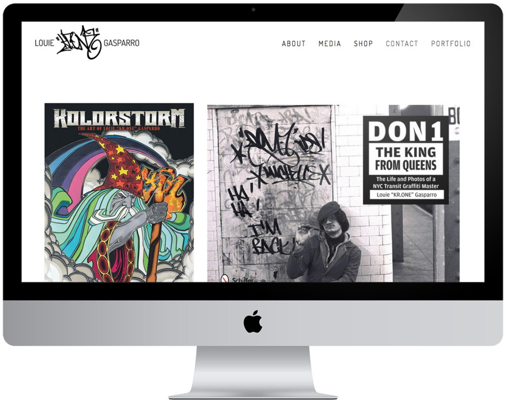 "New website for artist  Louie ""KR.ONE"" Gasparro   (Squarespace)"