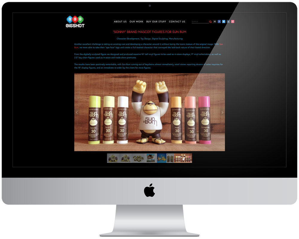 New portfolio site for  Bigshot Toyworks   (Squarespace)