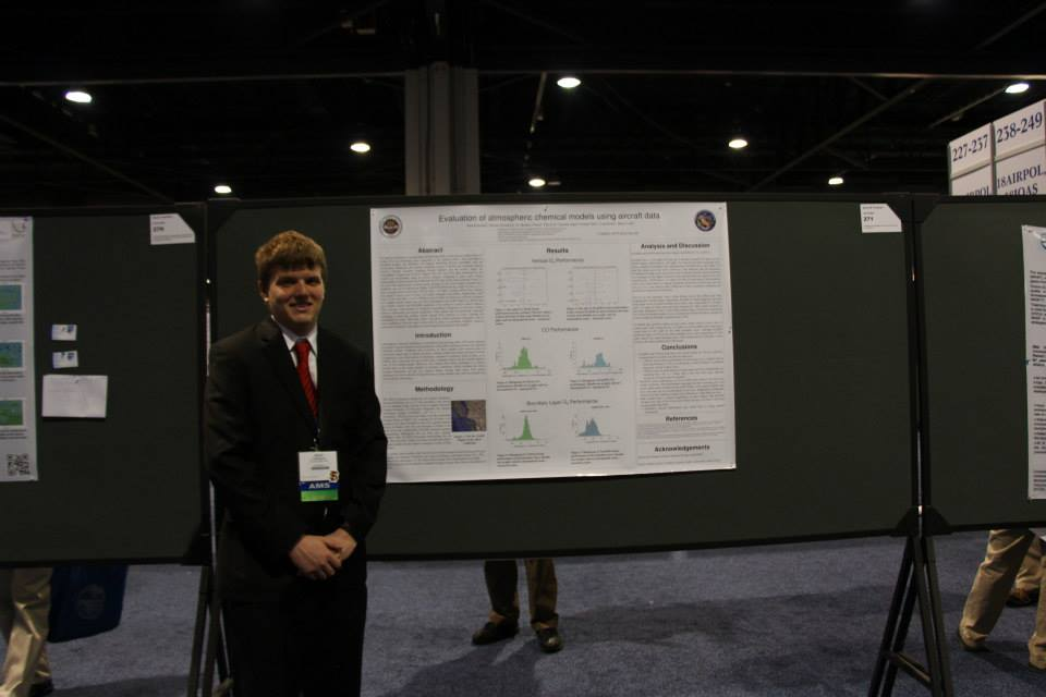 Sean presenting his poster at the 2014 American Meteorological Society Conference in Atlanta