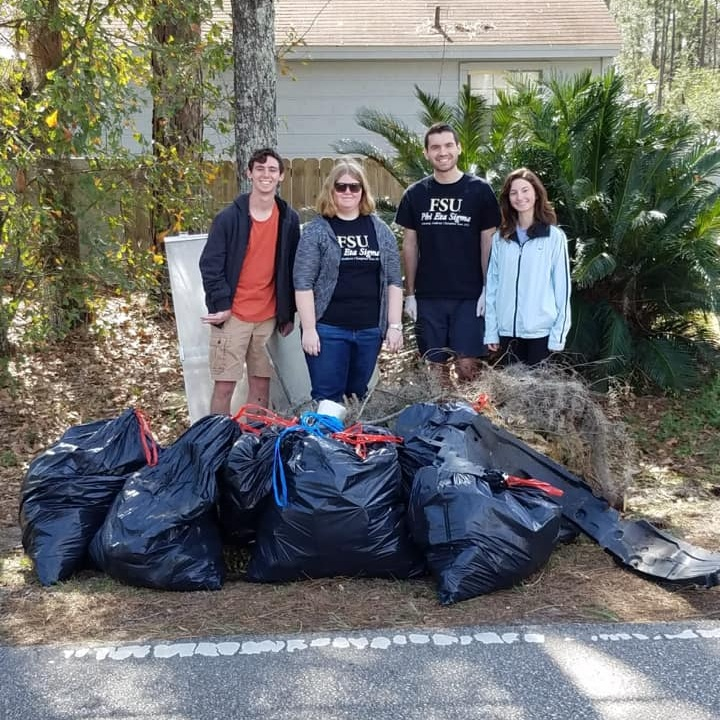 Adopt a Road Event - Phi Eta Sigma members kicked off PES week by cleaning up the newly adopted Stone Road located between Monroe St. and Bainbridge Rd.
