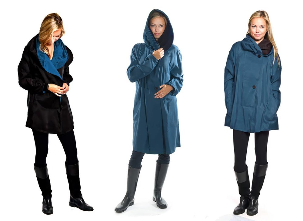 Sapphire blue mycra pac raincoats