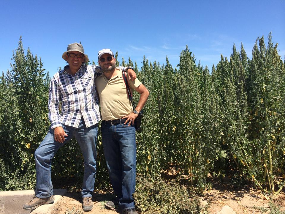 Our supplier, Fernando (Left), with Mike (Right).