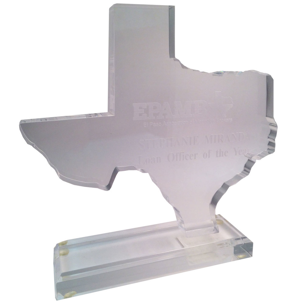 Clear Texas Shape with Base