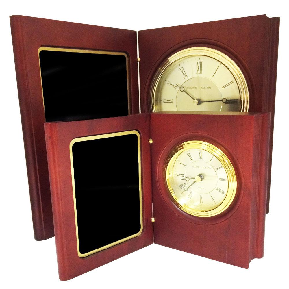 Rosewood Piano Book Clock