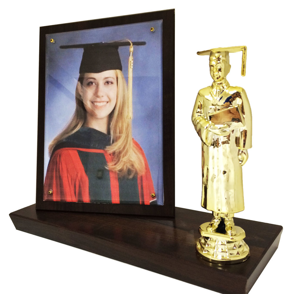 Graduate Stand Up Plaque with Figure
