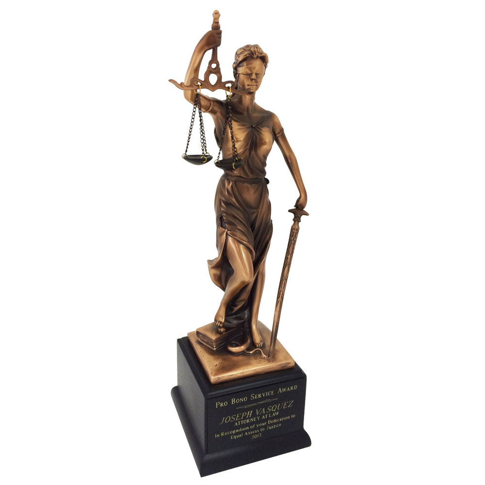 Resin Sculpture Scales of Justice
