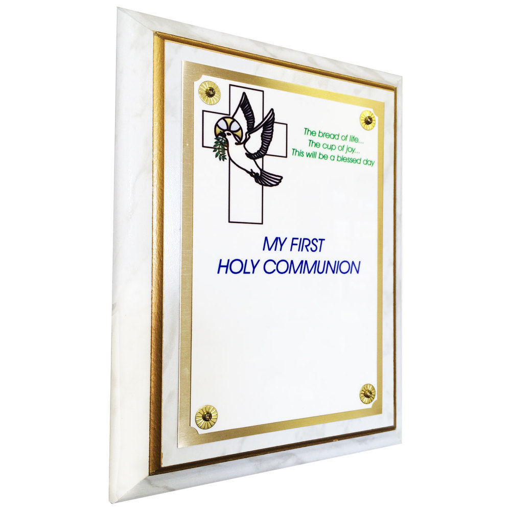 "Full Color First Communion Plaque (6"" x 8"")"