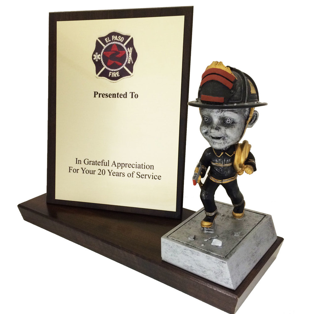 Stand Up Plaque with Bobblehead