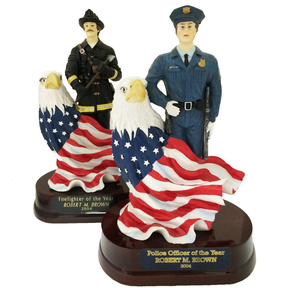 Fire Fighter & Police Resin Figure - SALE