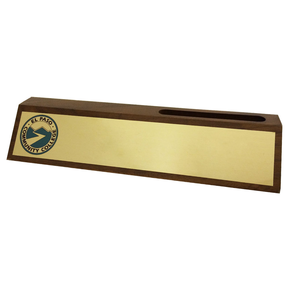 Full Color Desk Wedge with Card Holder