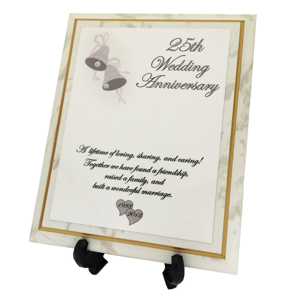 Full Color Wedding Anniversary Plaque