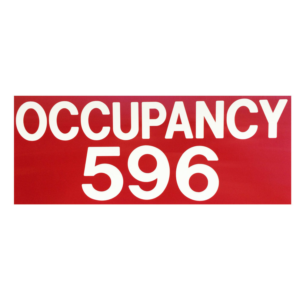 Restaurant Occupancy Sign