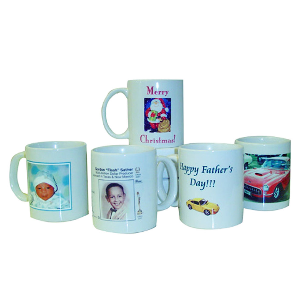 Personalized Ceramic Mugs (White)